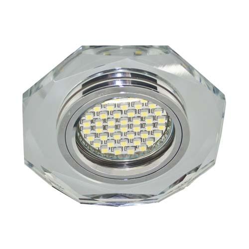 Встраиваемый светильник Feron 8020-2 с LED подсветкой