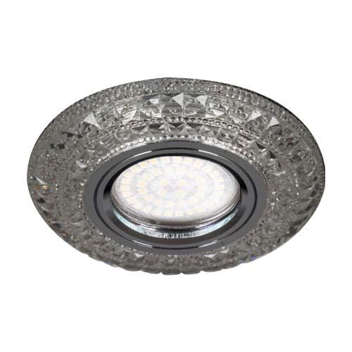 Встраиваемый светильник Feron CD877 с LED подсветкой прозрачный