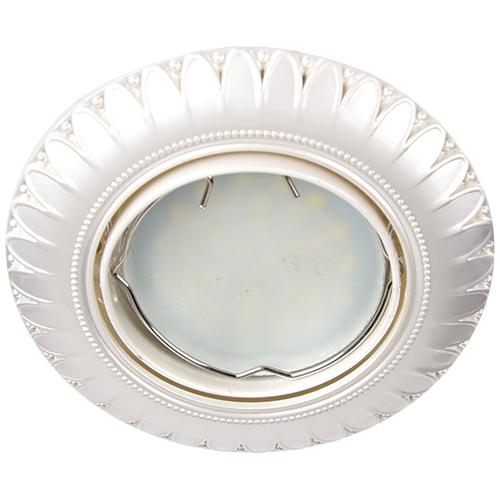 Встраиваемый светильник Feron DL6051 жемчужное серебро