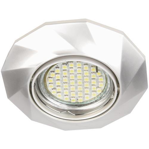 Встраиваемый светильник Feron DL6021 жемчужное серебро