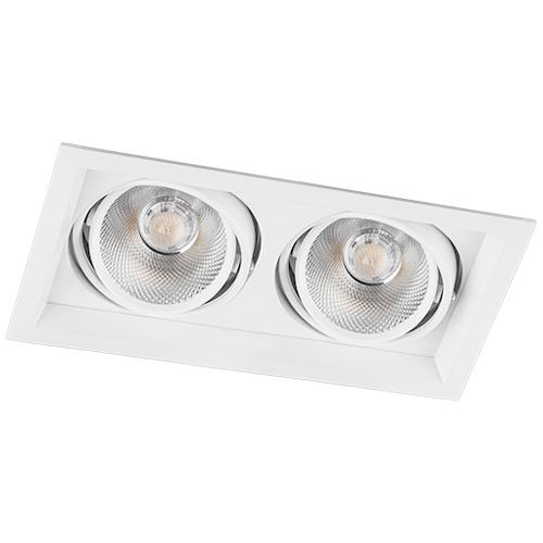 Карданный светильник Feron AL202 2xCOB 20W белый