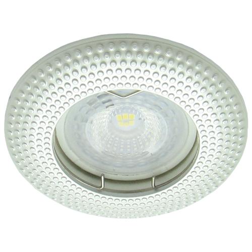 Встраиваемый светильник Feron DL6042 жемчужное серебро