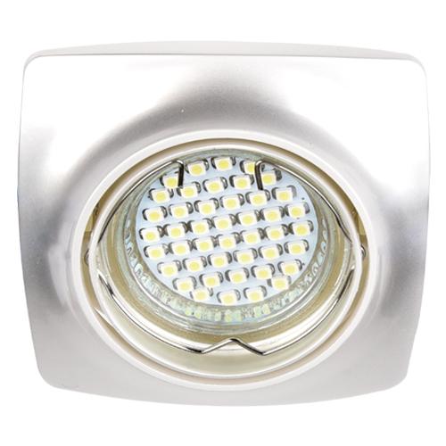 Встраиваемый светильник Feron DL6045 жемчужное серебро