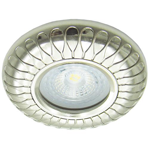 Встраиваемый светильник Feron DL6047 жемчужное серебро
