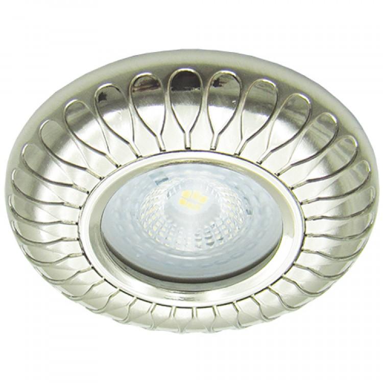 Вбудований світильник Feron DL6047 перлове срібло